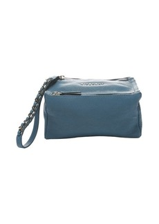 Givenchy medium blue leather 'Pandora' dual zip travel case