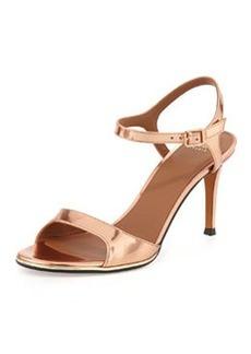 Givenchy Metallic Specchio Ankle-Wrap Sandal