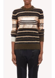 Givenchy Metallic Stripe Pullover
