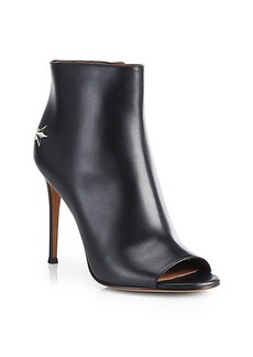 Givenchy Micha Open-Toe Leather Booties