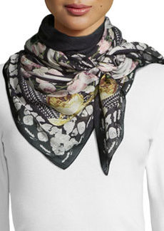 Givenchy Mirror Printed Square Scarf, Multicolor