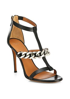 Givenchy Mirtilla Leather T-strap Chain Sandals
