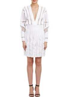 Givenchy Mixed-Texture Compact Knit Dress