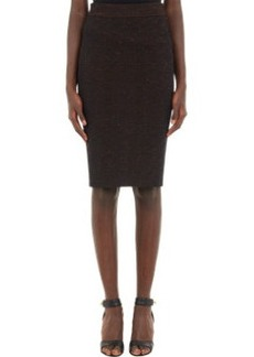 Givenchy Mélange Compact-Knit Pencil Skirt