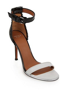 Givenchy Nadia Laced-Back Patent Leather Sandals