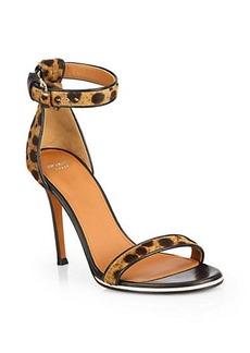 Givenchy Nadia Leopard-Print Calf Hair Sandals
