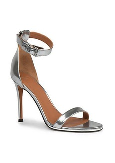 Givenchy Nadia Metallic Leather Sandals