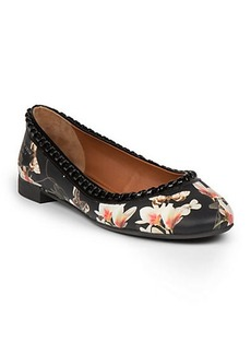 Givenchy Ninni Printed Leather Ballet Flats