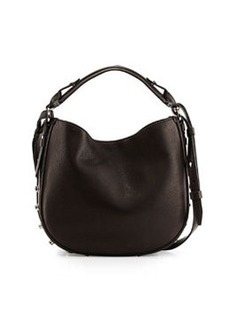 Givenchy Obsedia Small Leather Hobo Bag, Pearl Gray