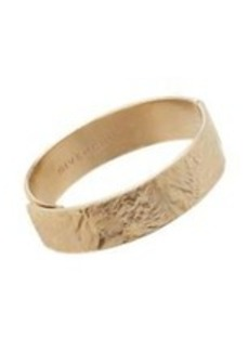 Givenchy Pale Gold Thin Wrinkled-Texture Cuff