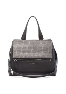 Givenchy Pandora Pure Medium Ayers Satchel Bag, Dark Gray