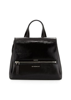 Givenchy Pandora Pure Small Patent Leather Satchel Bag, Black