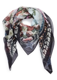 Givenchy 'Paradise Flowers' Cotton & Silk Scarf