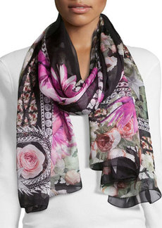 Givenchy Paradise Flowers Silk Scarf