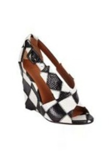 Givenchy Patchwork Crisscross Wedge Sandals