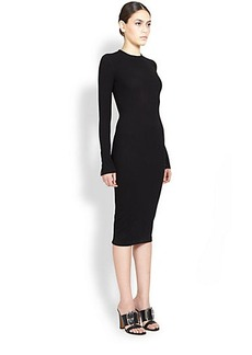Givenchy Patent-Zipper Accent Dress