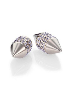 Givenchy Pavé Crystal Cone Magnetic Earrings