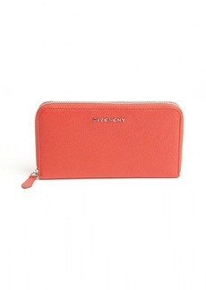 Givenchy peach leather continental zip wallet
