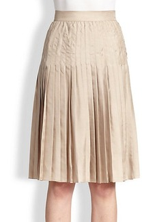 Givenchy Pleated Silk Skirt