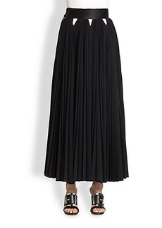 Givenchy Pleated Wool Maxi Skirt