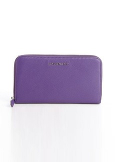 Givenchy plum leather continental zip wallet