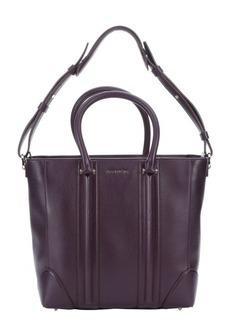 Givenchy plum leather 'Lucrezia' convertible medium tote bag