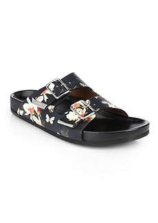 Givenchy Printed Leather Swiss Sandals