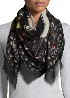 Givenchy Printed Wool Square Scarf