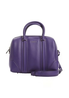 Givenchy purple leather and suede 'Lucrezia Duffel' convertible bag