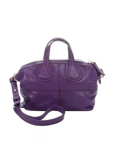 Givenchy purple leather 'Nightingale' convertible mini satchel