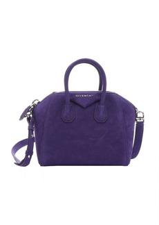 Givenchy purple suede 'Antigona' convertible mini satchel