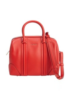 Givenchy red leather and suede 'Lucrezia Duffel' convertible bag