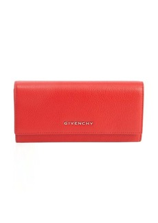 Givenchy red leather continental wallet