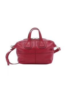 Givenchy red leather micro 'Nightingale' convertible satchel