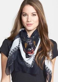 Givenchy Rottweiler Print Silk & Cotton Scarf