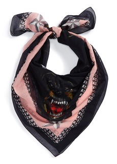 Givenchy Rottweiler Print Silk & Cotton Scarf