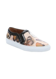 Givenchy sand butterfly leather slip-on sneakers
