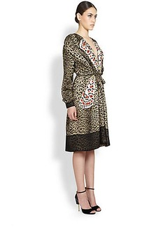 Givenchy Silk Leopard & Butterfly Dress