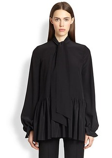 Givenchy Silk Tie-Neck Blouse