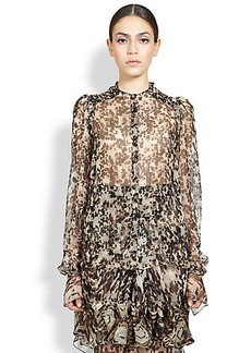 Givenchy Silk Tortoise Shell Blouse