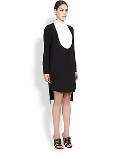 Givenchy Silk Tuxedo-Bib Shirtdress