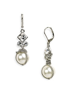 Givenchy Small Glass Pearl Earrings