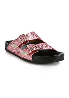 Givenchy Sparkling Leather Swiss Sandals