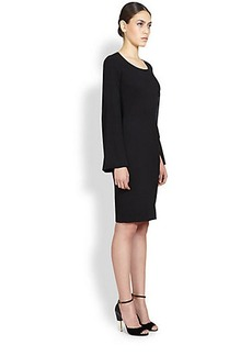 Givenchy Split-Sleeve Cady Dress