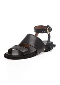 Givenchy Strappy Ankle-Wrap Flat Sandal