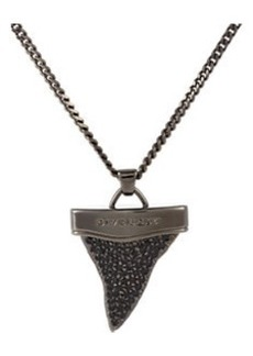 Givenchy Strass Crystal Shark Tooth Pendant Necklace