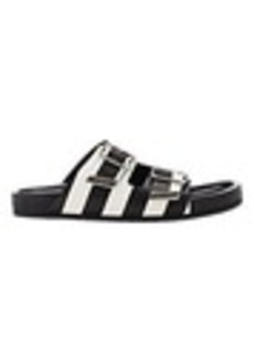 Givenchy Stripe Double-Buckle Sandals
