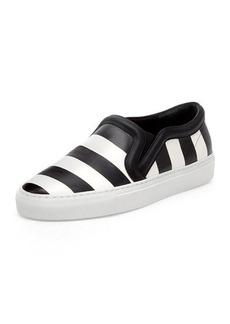 Givenchy Striped Leather Skate Shoe