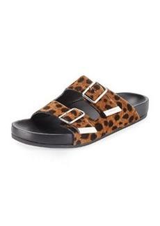 Givenchy Swiss Leopard-Print Calf Hair Sandal