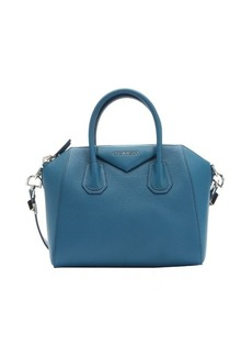 Givenchy teal blue goatskin small 'Antigona' convertible tote